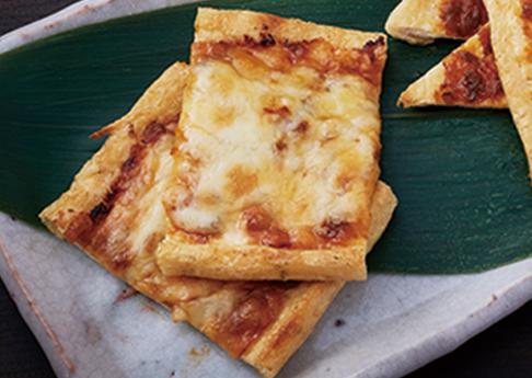 油揚げの唐辛子みそチーズ焼き