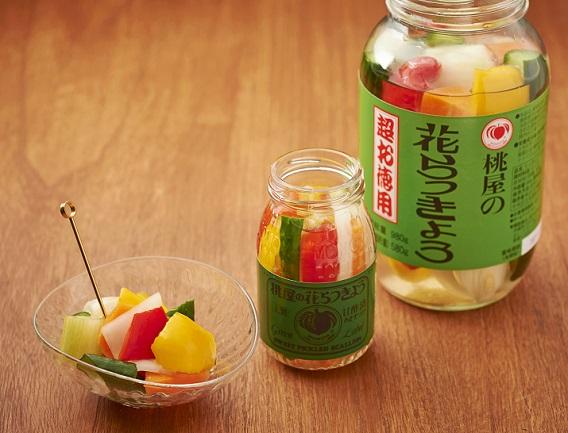 花らっきょうの甘酢でピクルス
