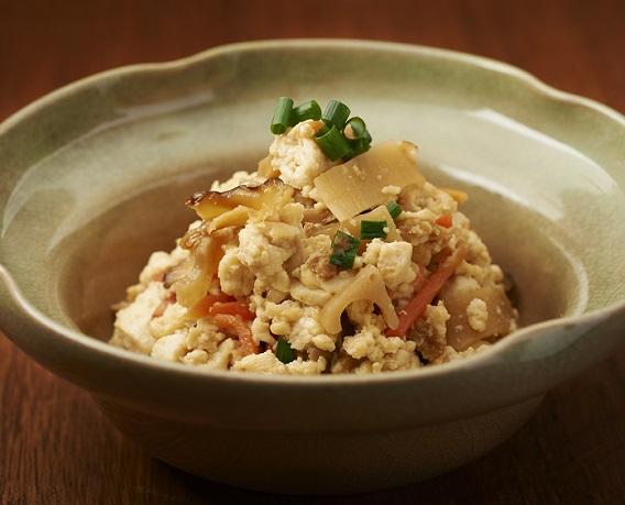 五目寿司のたねで炒り豆腐の画像