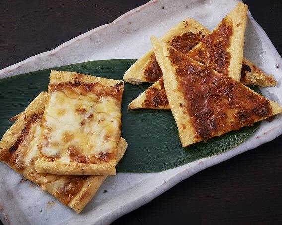 油揚げの唐辛子みそチーズ焼きの画像