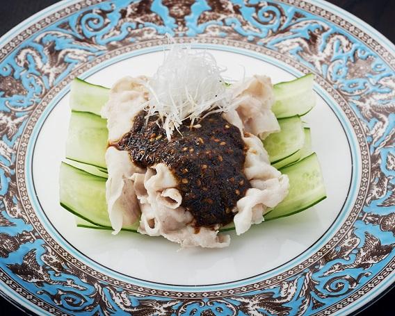 ゆで豚 生七味中華風ソースがけの画像