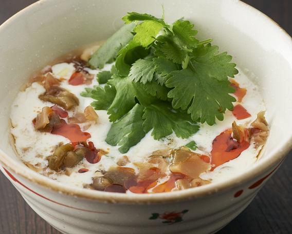 台湾豆乳ザーサイスープ(シェントゥジャン)の画像