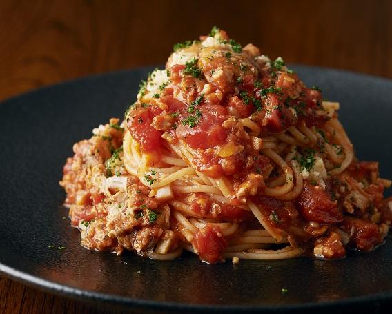 ★新メニュー★さばとトマトのパスタの画像