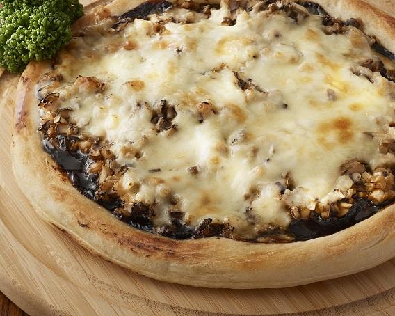 ★新メニュー★ごはんですよ!きのこピザの画像