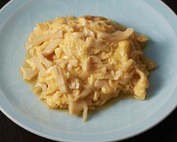 香ばし葱油味穂先メンマの卵炒めの画像