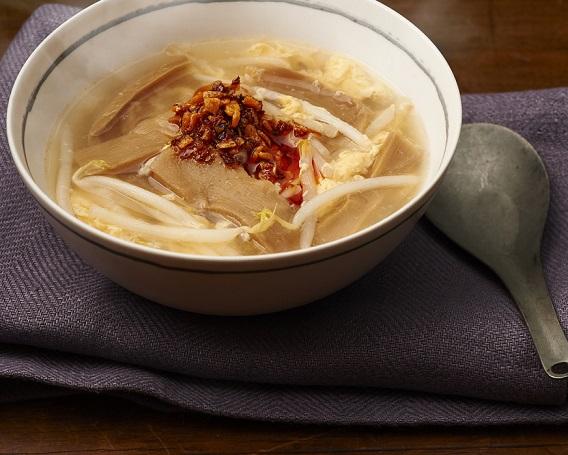 メンマと食べるラー油のかき玉スープの画像